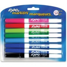 Dry Erase Markers,Expo2,Low Odor,Find Tip,8/ST,Assorted