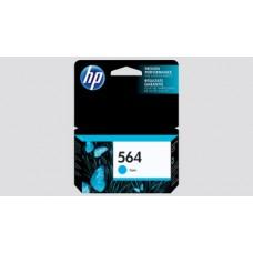 HP 564 Ink Cartridge, 250 Page Yield, Cyan